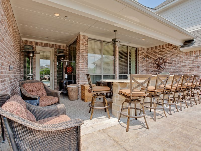 Covered Outdoor kitchen in Allen TX | Homes | Pinterest | Covered ...