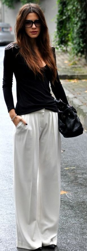 Palazzo Pants With Long Shirts Trends 2014 For Girls                                                                             Source