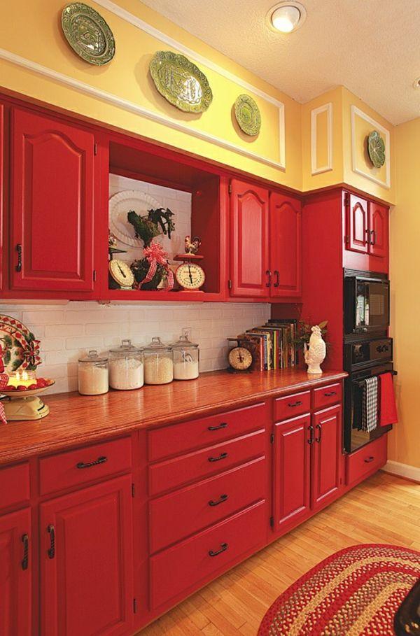 tonnant meuble de cuisine en bois rouge