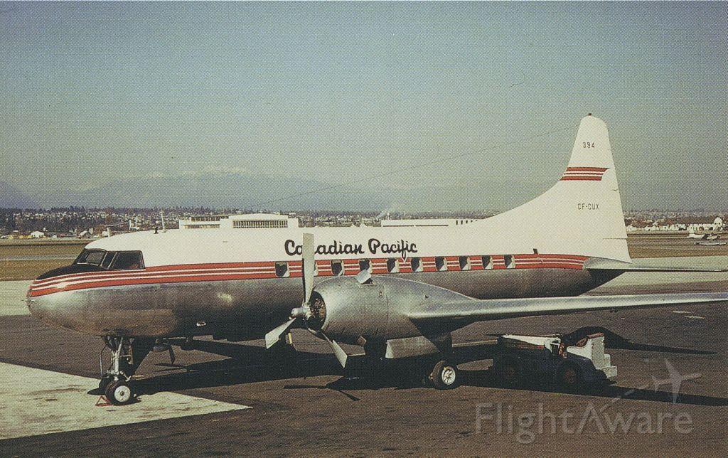 Photo of CONVAIR CV340 Convairliner (CFCUX) FlightAware