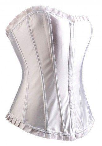 white satin boning bridal corset bustier 4055  bridal