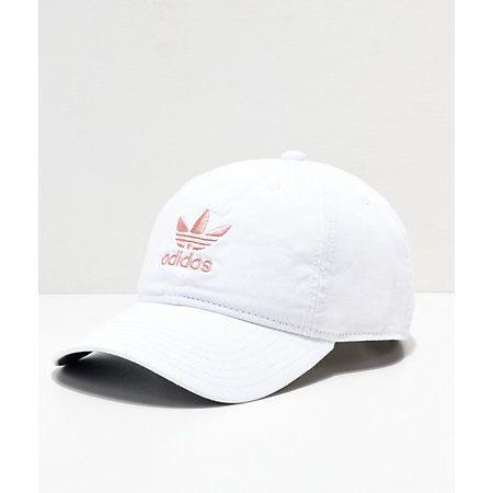9ca7f039303 adidas Women s Original White   Pink Strapback Hat in 2019 ...