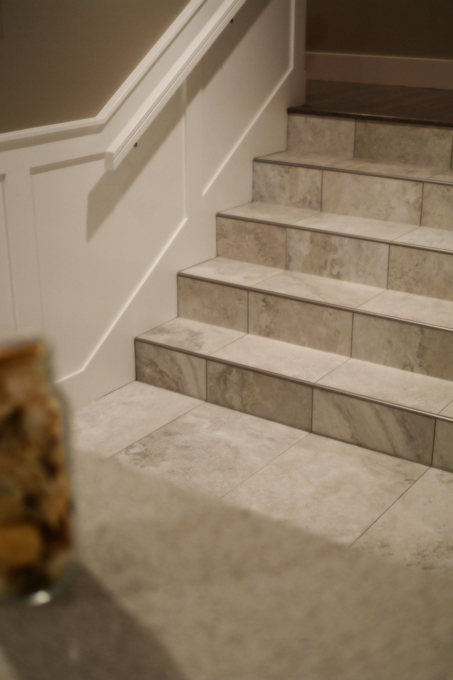 Tile on stairs can be a beautiful durable alternative however tile flooring dailygadgetfo Gallery