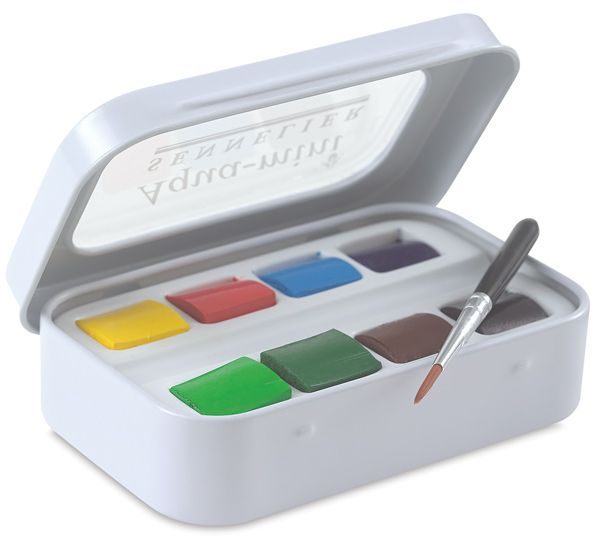 Sennelier French Artists Watercolor Aqua Mini Set Of 8 Colors