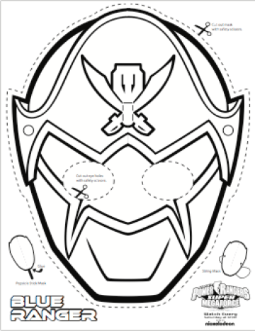 image about Power Ranger Mask Printable referred to as Tremendous MEGA Ability Rangers Printable - Coloring Masks ranger