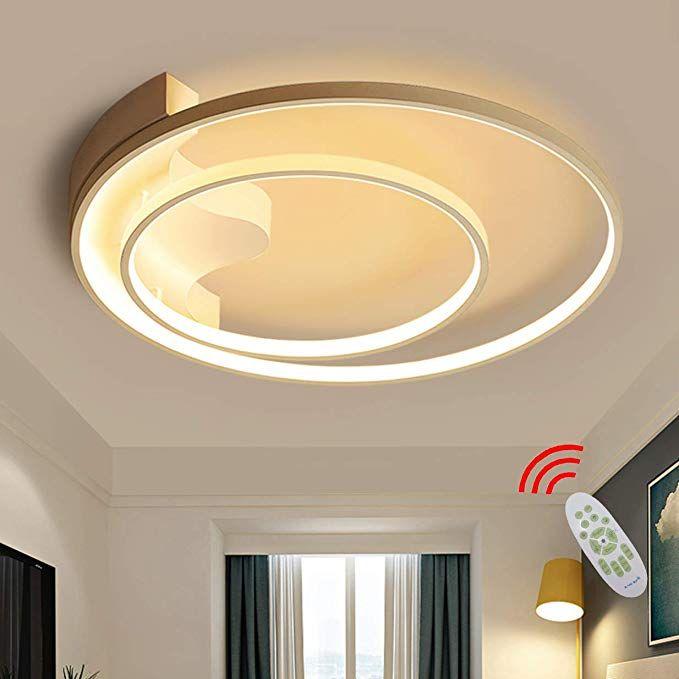 Led Deckenlampe Dimmbar Schlafzimmerlampe 2 Ring Design