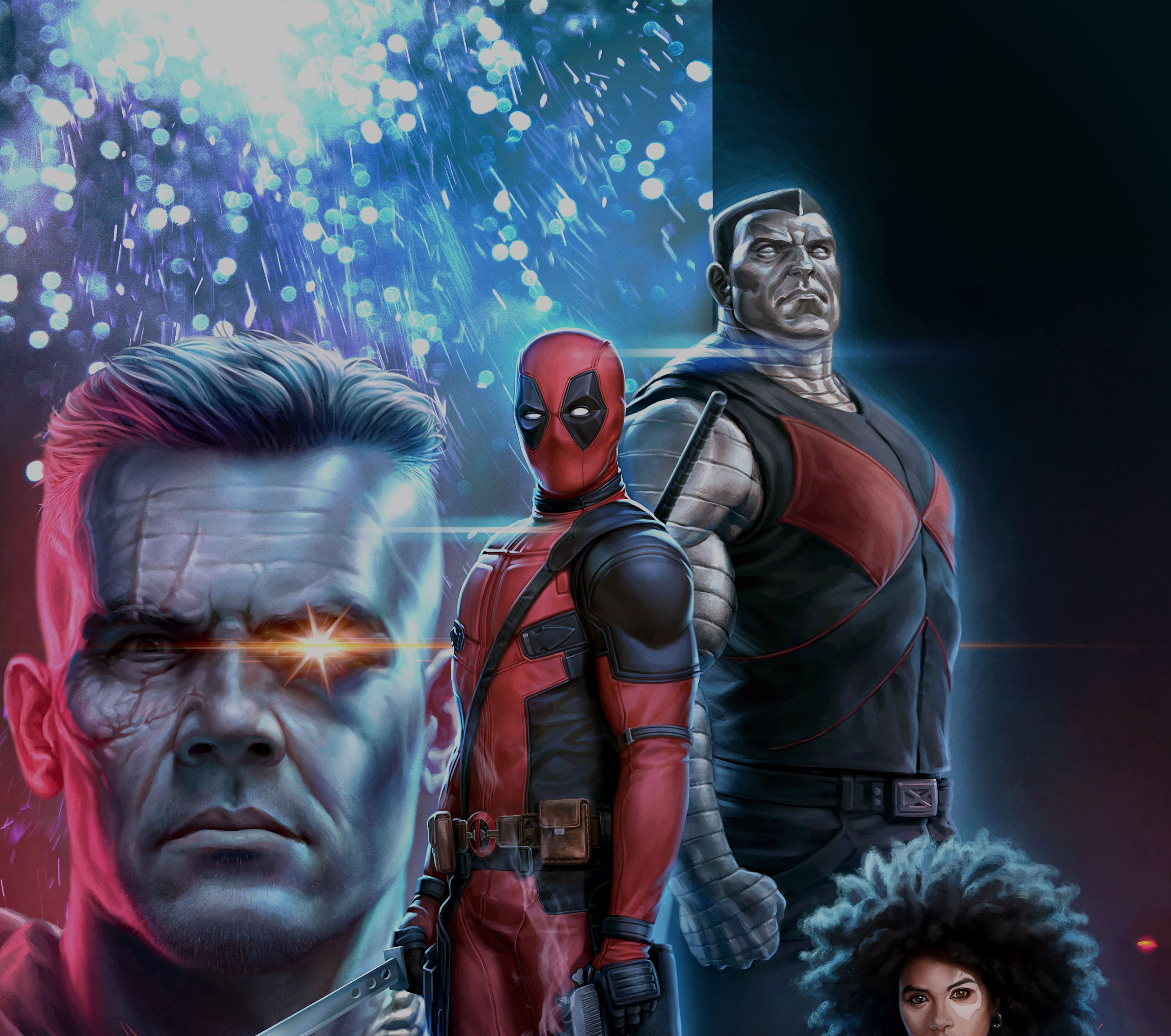 deadpool 2 cable domino deadpool colossus