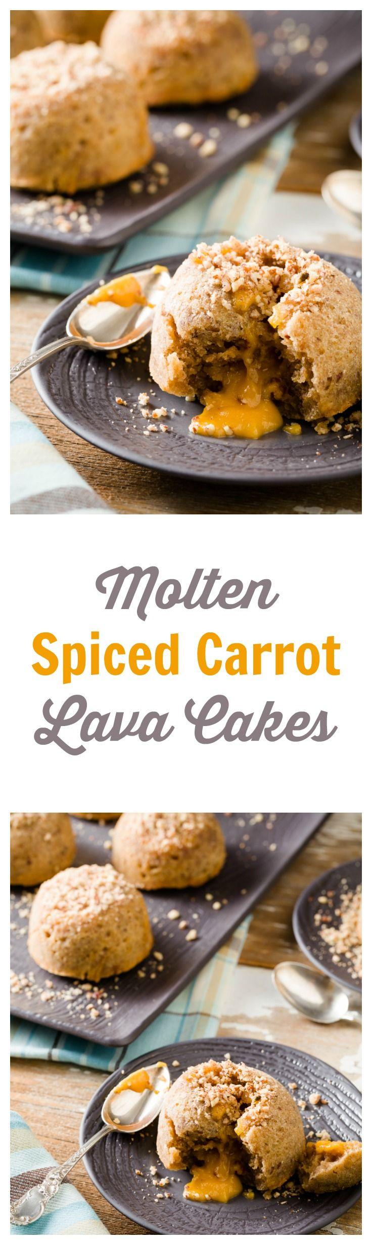 Spiced Carrot Lava Cake