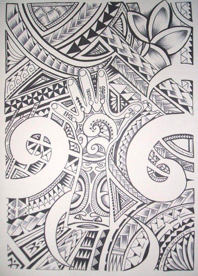 Top Jooli Dessin pour Tatouage Maori Polynésien | tattoo | Pinterest  OD56