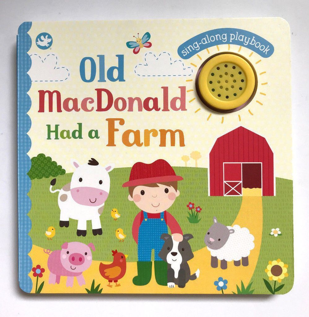 Old Macdonald Had A Farm Single Sound Book Farm Kids Little My Hallmark Cards