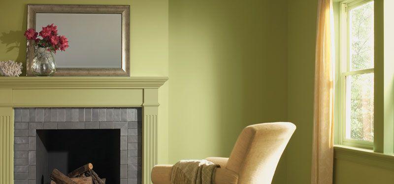 El verde pistache queda muy bien en interiores sobre todo for Colores contemporaneos para interiores