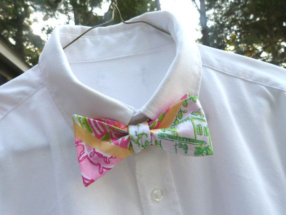 Mens Lilly Pulitzer Bow Tie Handmade Multi Worth by LWhelanDesigns, $36.00