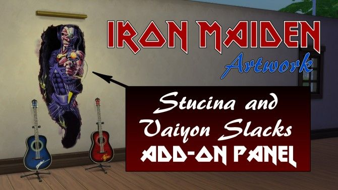 Iron Maiden Artwork by ironleo78 at Mod The Sims via Sims 4 Updates