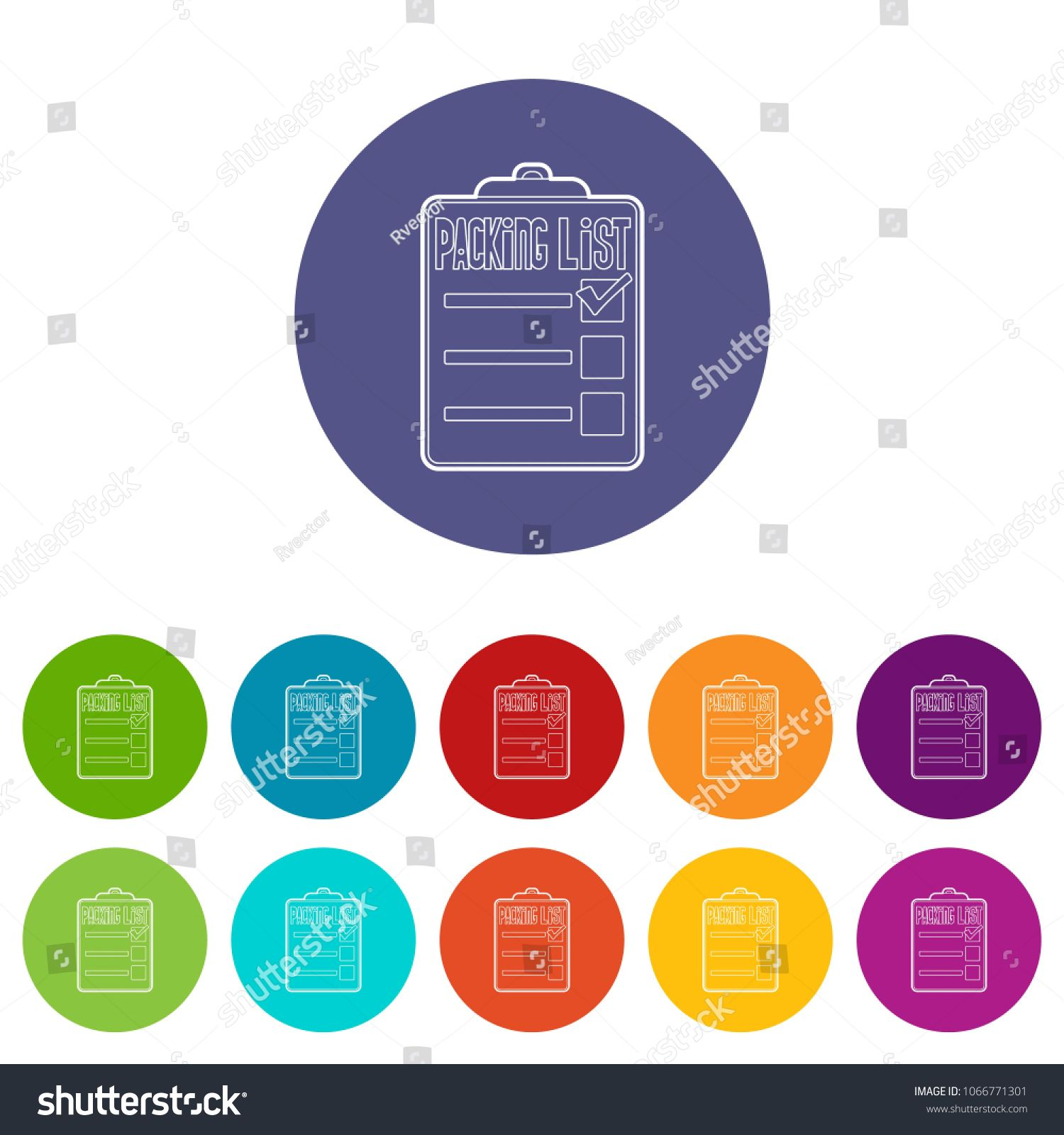 Packing List Icons Color Set Vector For Any Web Design On White Background Ad Paid Color Set Icons Packing In 2020 Color Set Packing List Web Design
