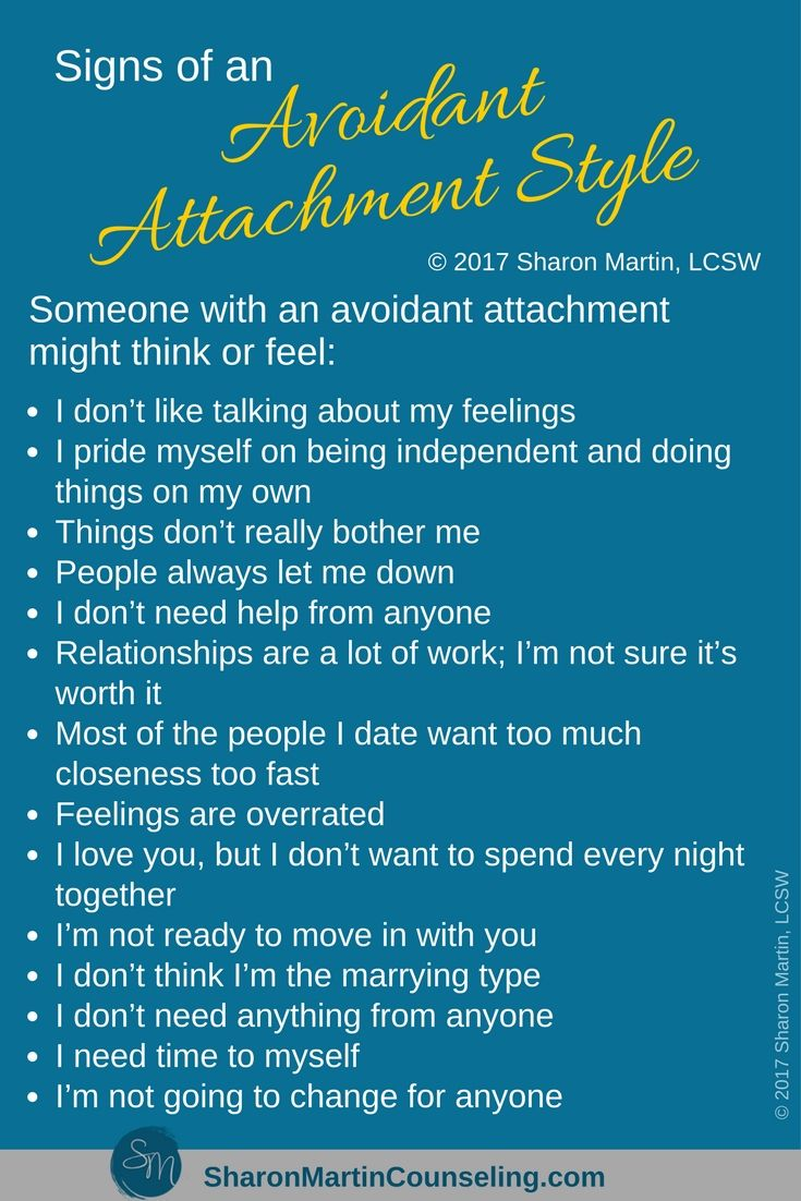 Dismissive avoidant attachment causes