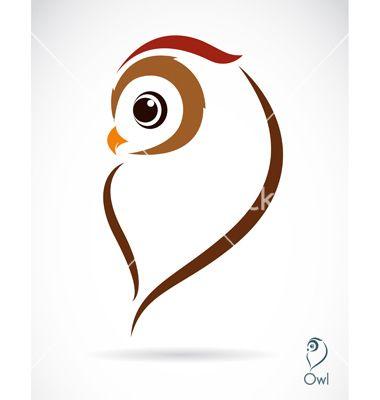 Owl Vector Image On Vectorstock Owl Vector Art Owl Art