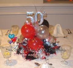 50th birthday centerpieces anniversary balloon centerpiece triad