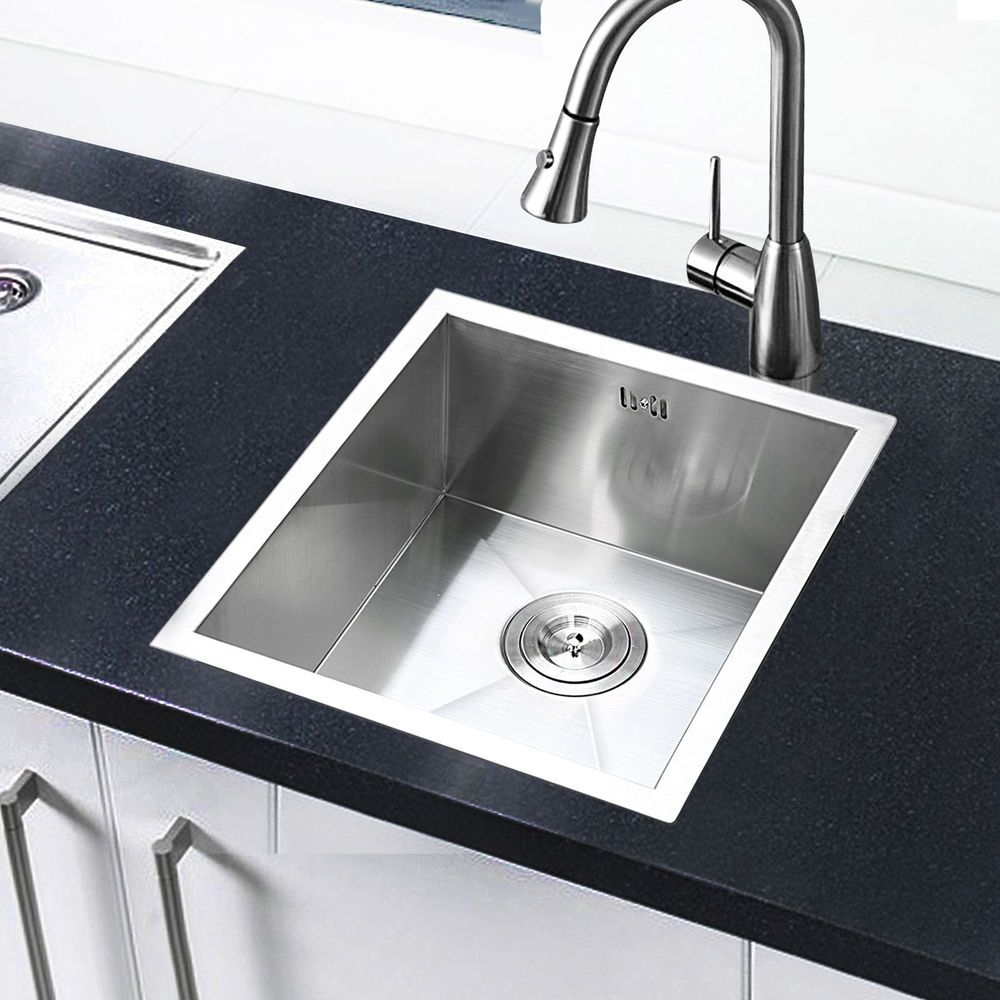 Commercial Handmade Stainless Steel Kitchen Sinks Square Single