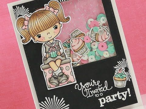 Cute As A Cupcake - Copic Colouring & Card Tutorial - YouTube