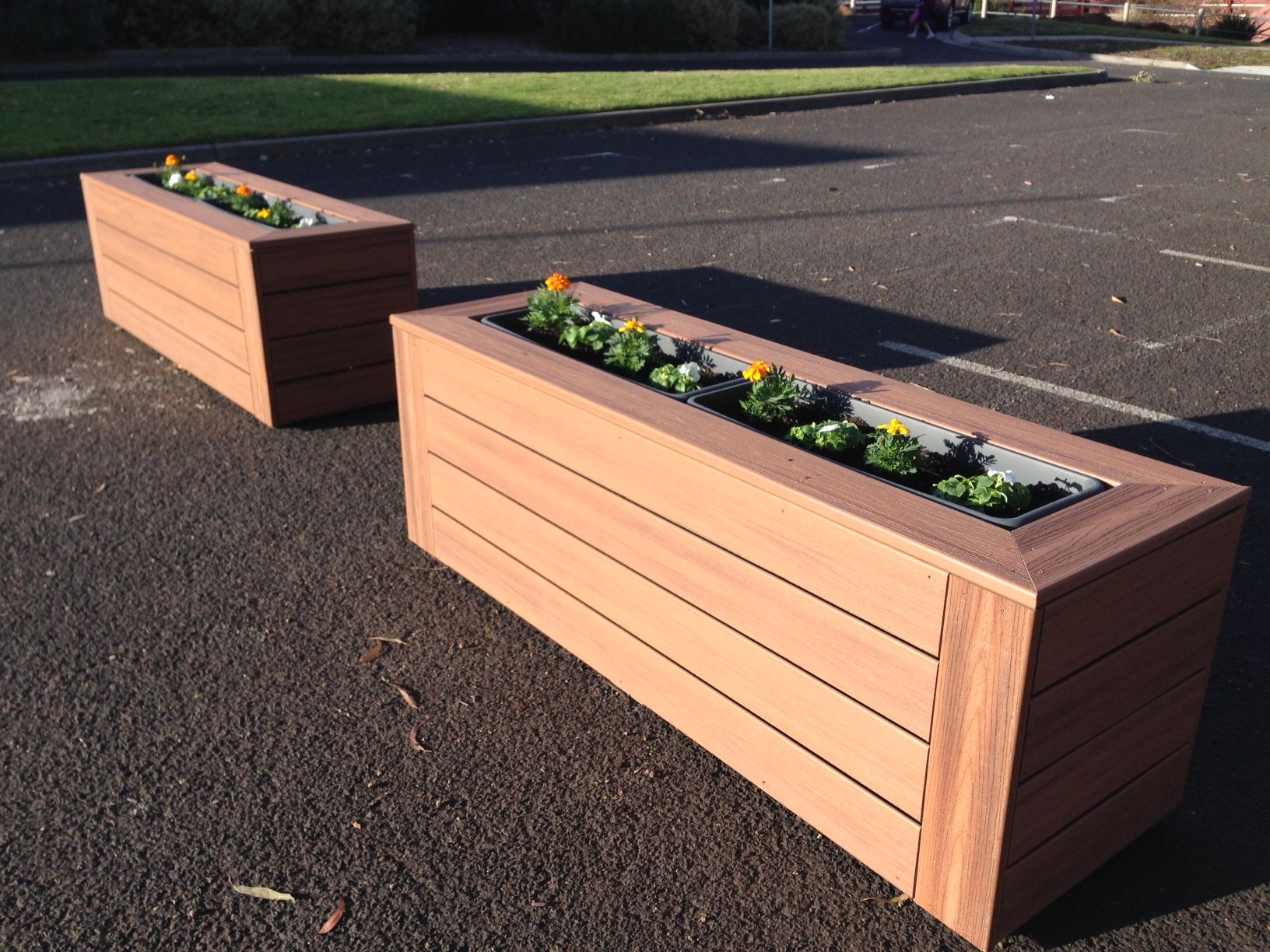 cheap wood plastic flower boxes in Nicaragua, build your