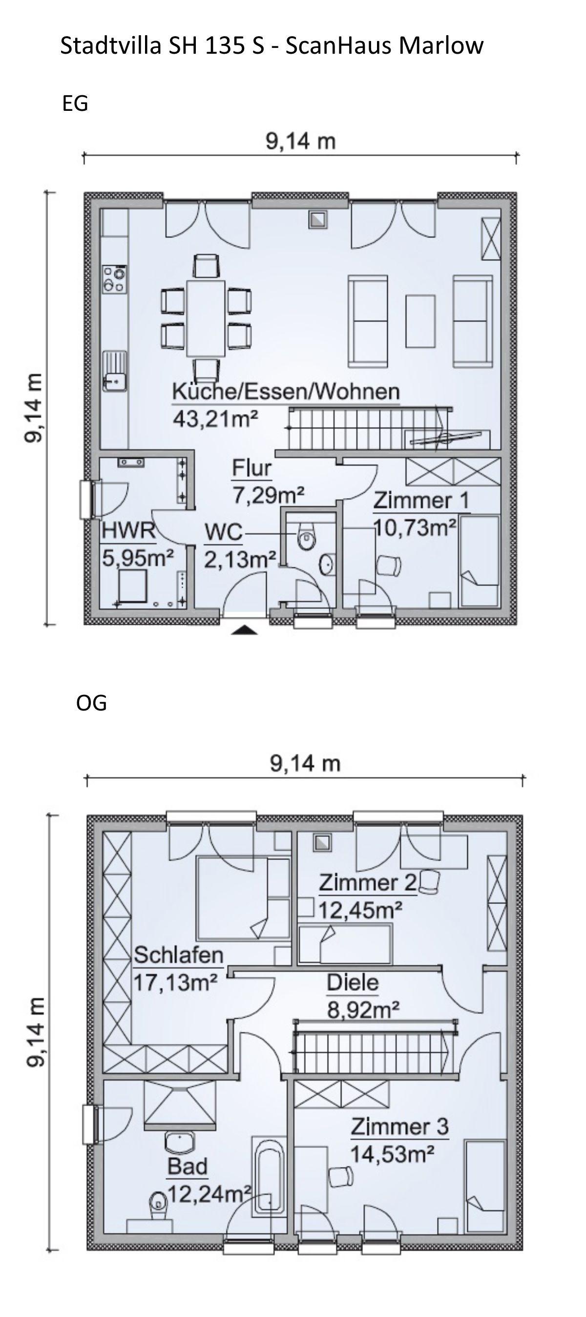 Modernes Einfamilienhaus Grundriss Mit Garage Walmdach
