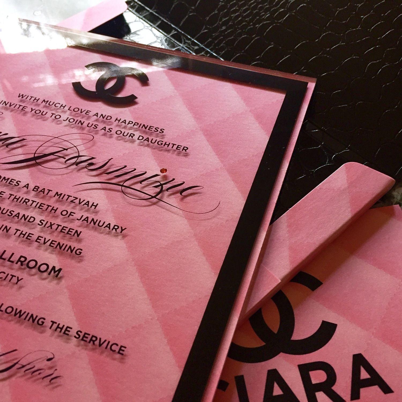 Gail Steinberg design bat mitzvah invitations created uniquely for