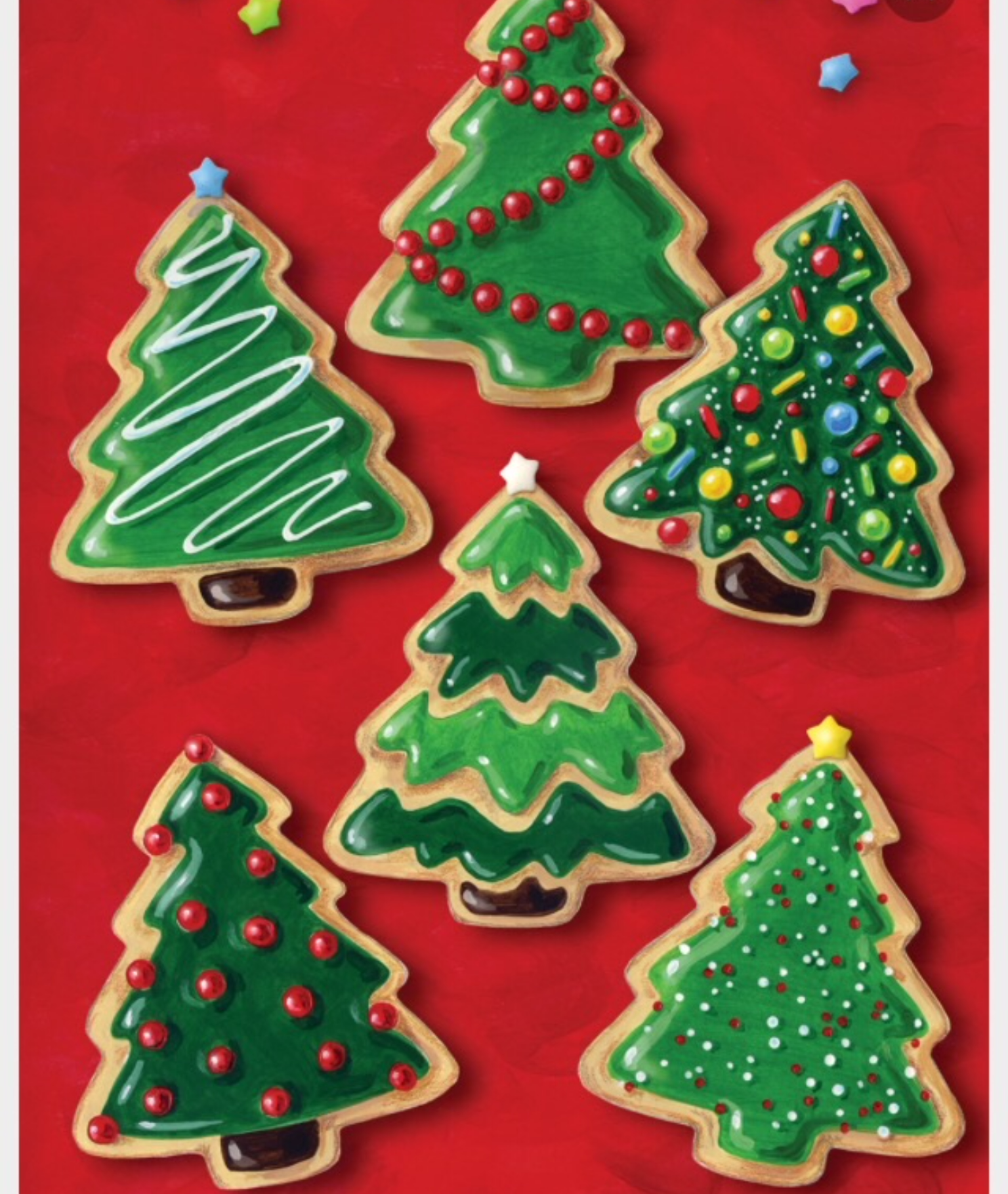 Christmas Tree Decorated Cookies: Christmas Tree Sugar Cookie Decorating