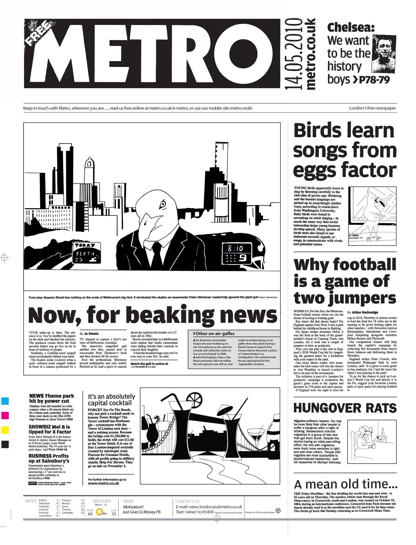 A newspaper layout