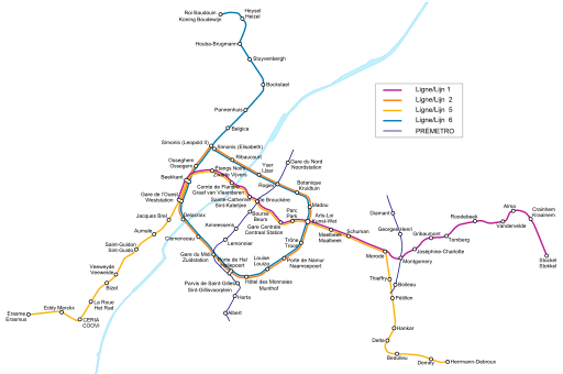 Brussels Metro Is The Most Modern On The Continent Construction Began In 1970 And The First Line Opened In 1976 T Mapa Del Metro Linea De Metro Red De Metro