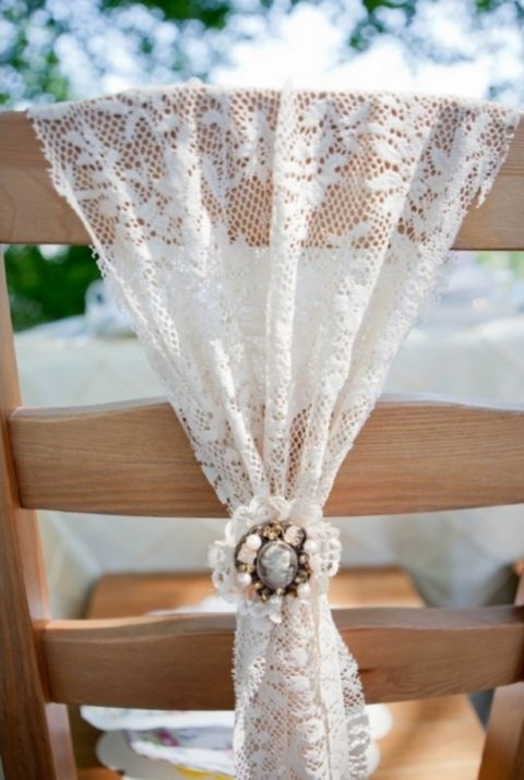 53 Cool Wedding Chair Decor Ideas With Fabric And Ribbon | HappyWedd.com