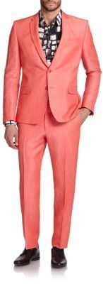 Versace Collection Solid Coral Suit