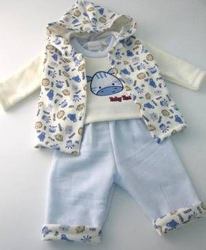 Fleeceset 3tlg. Zebra blau