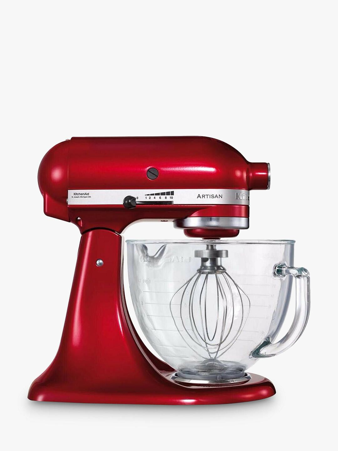 Kitchenaid artisan 48l stand mixer candy apple red in