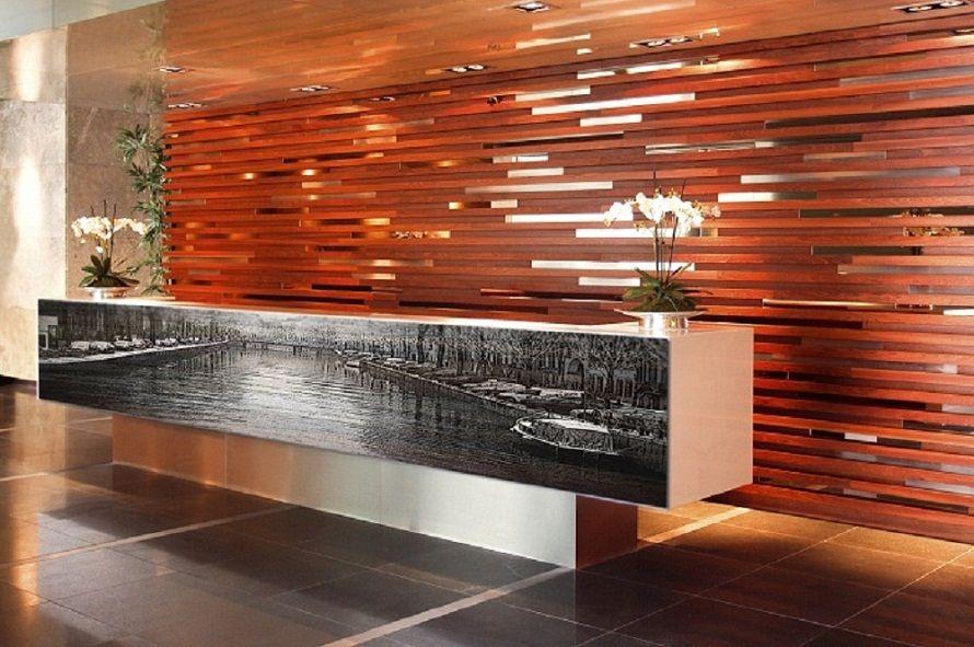 Vinyl Wrap Reception Counter By Zinc Fx Restaurant Art