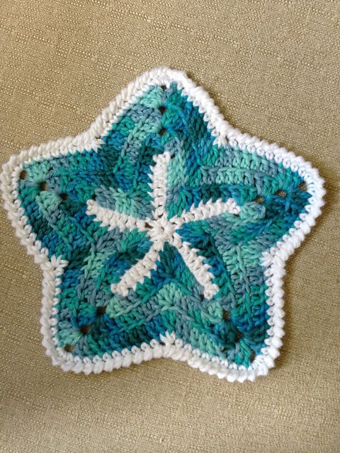 Starfish Dishcloths pattern by Mary Ann Frits | Crochet & knit ...