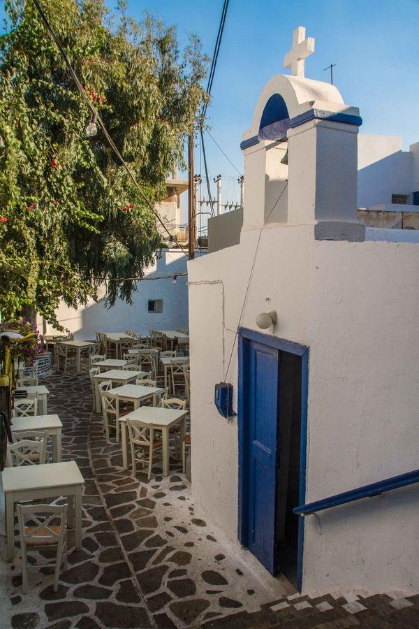 Church & Tavern in Naxos, Greece