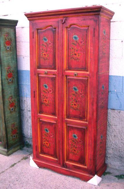 Armarios pintados a mano buscar con google muebles - Muebles antiguos pintados ...