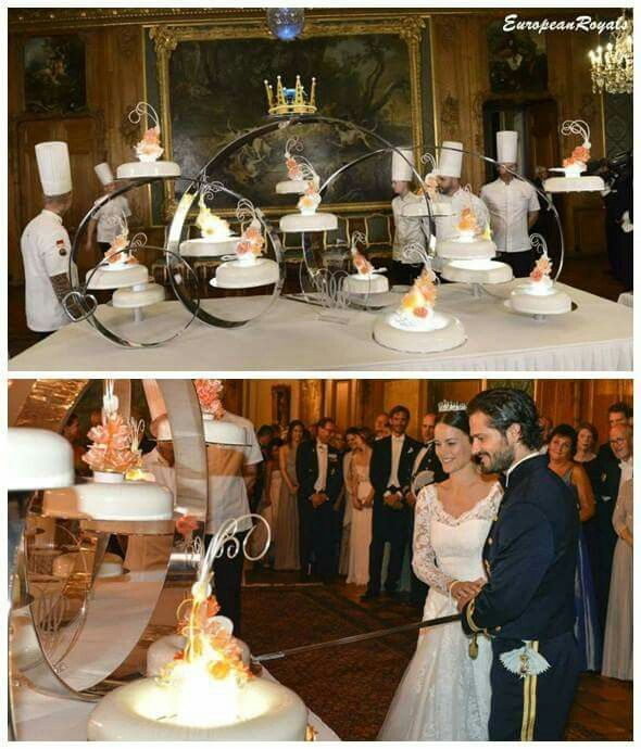 Prince Carl Philip And Princess Sofia S Wedding Cake Royal Wedding Cake Royal Weddings Royal Brides