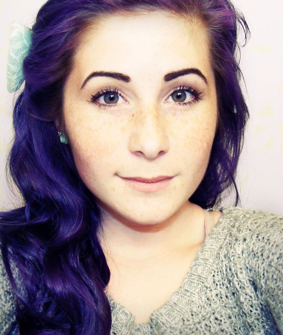Purple hair DIY The first time I did this with Color