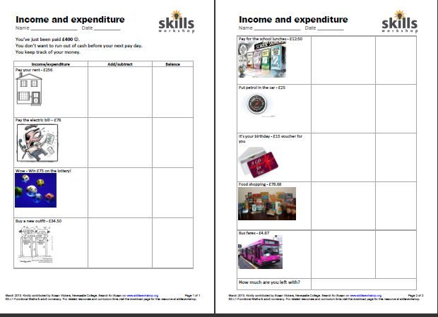 independent living skills worksheets free Google Search – Practical Money Skills Worksheets