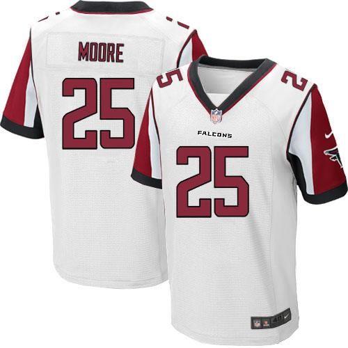 Nike NFL Atlanta Falcons #25 William Moore White Elite Road Jersey Sale