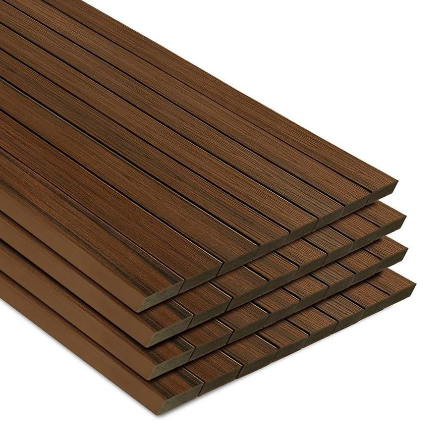 Azek Slate Gray Composite Deck Board Actual 1 In X 5 5 In X 12 Ft A Pvc Decking Composite Decking Boards Deck Boards