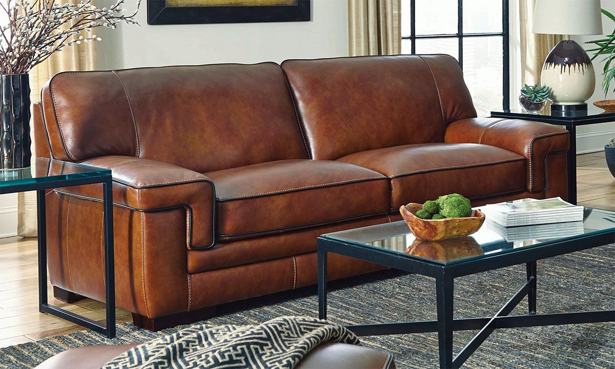 - Chestnut Leather Chair Leather Sofa, Leather Sofa Living Room