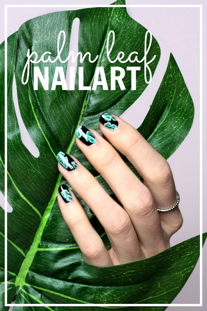 palm leaf nailart