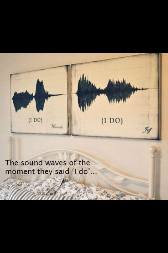 The sounds waves of saying you love each other! Super awesome idea! Love it