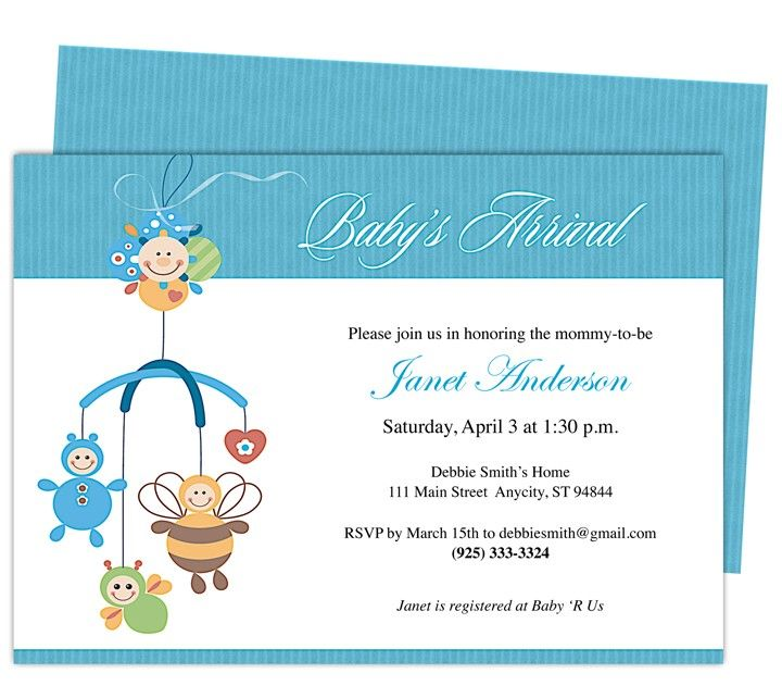 Family Baby Shower Invitations: Welcome The New Conceived By Downloading Lovely And