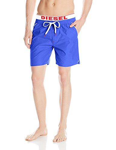 fda4493b3b Diesel Men's Dolphin 4 Inch Solid Boxer Swim Short, Navy, X-Large -- Click  the VISIT button to view the swimwear details