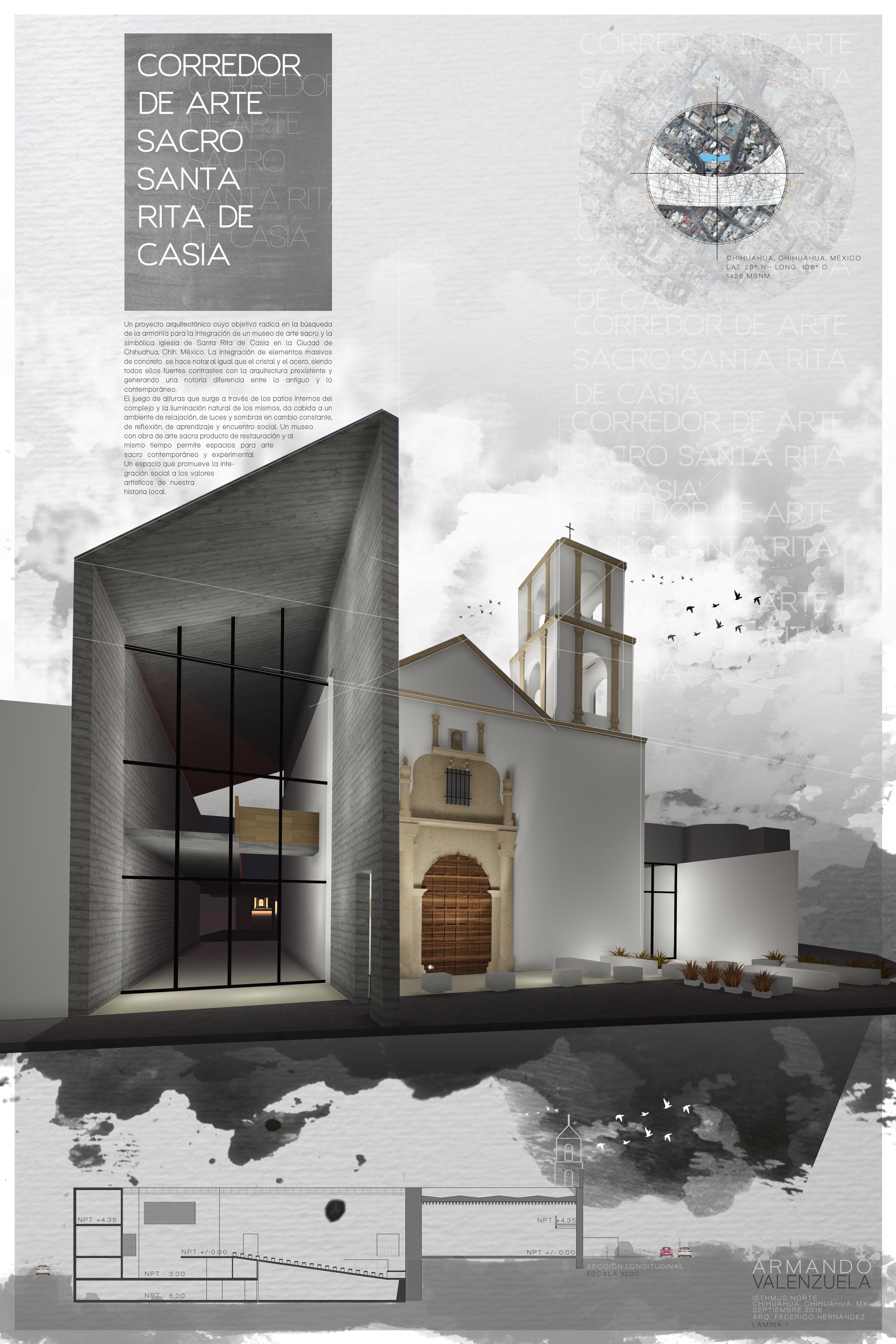 Lamina 1 De 2 Corredor De Arte Sacro Santa Rita De Casia Proyecto