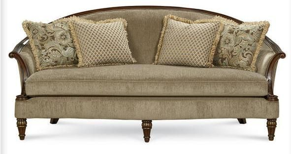 Allyson Carved Wood Sofa, Schnadig Collections, Schnadig ...