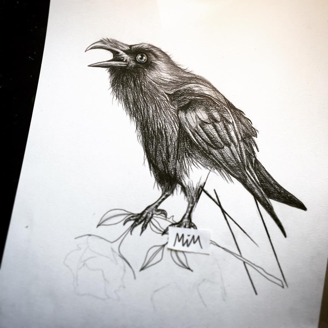 23 Raven Tattoo Designs Ideas: 55 Inspiring Raven Tattoo Designs